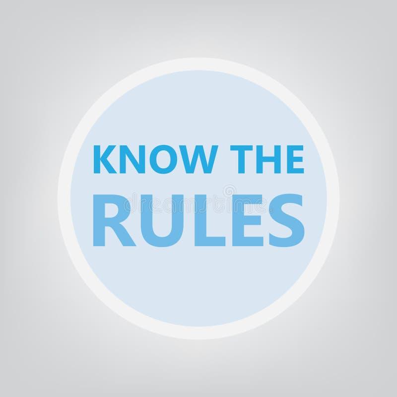 Знайте концепцию правил иллюстрация вектора