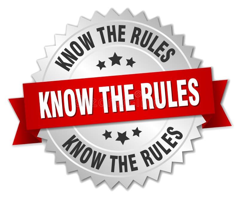Знайте правила иллюстрация вектора