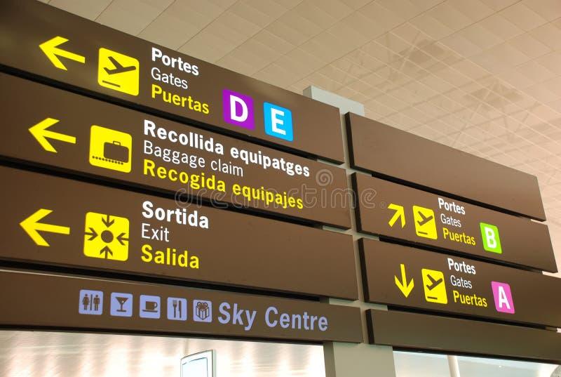 знаки авиапорта стоковые изображения