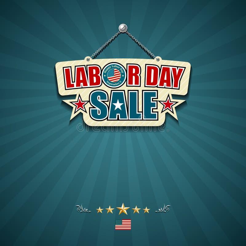 Знаки американца продажи Дня Трудаа иллюстрация штока