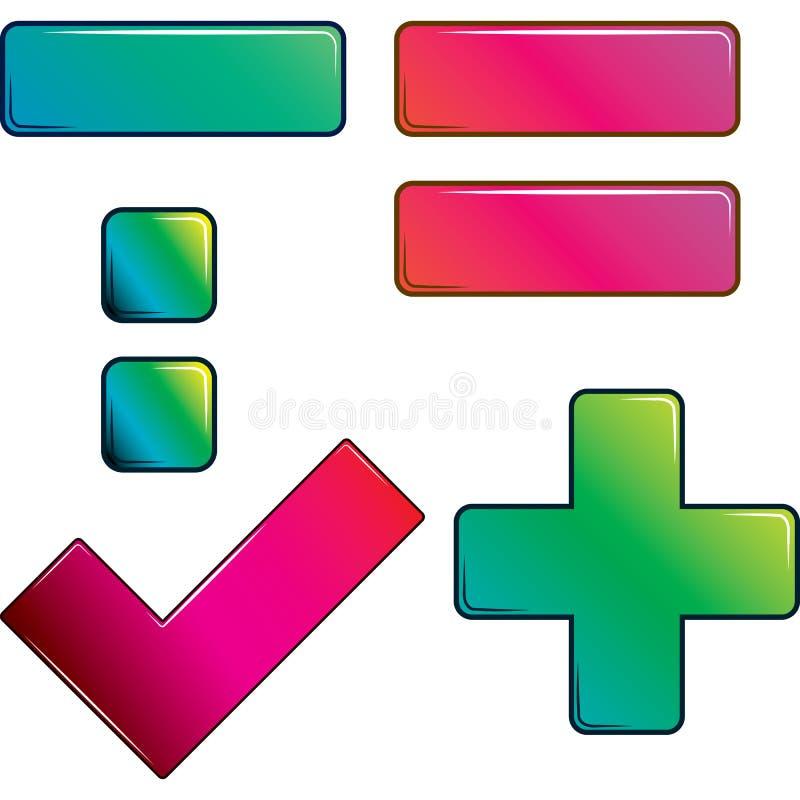 знаки арифметики установленные иллюстрация штока