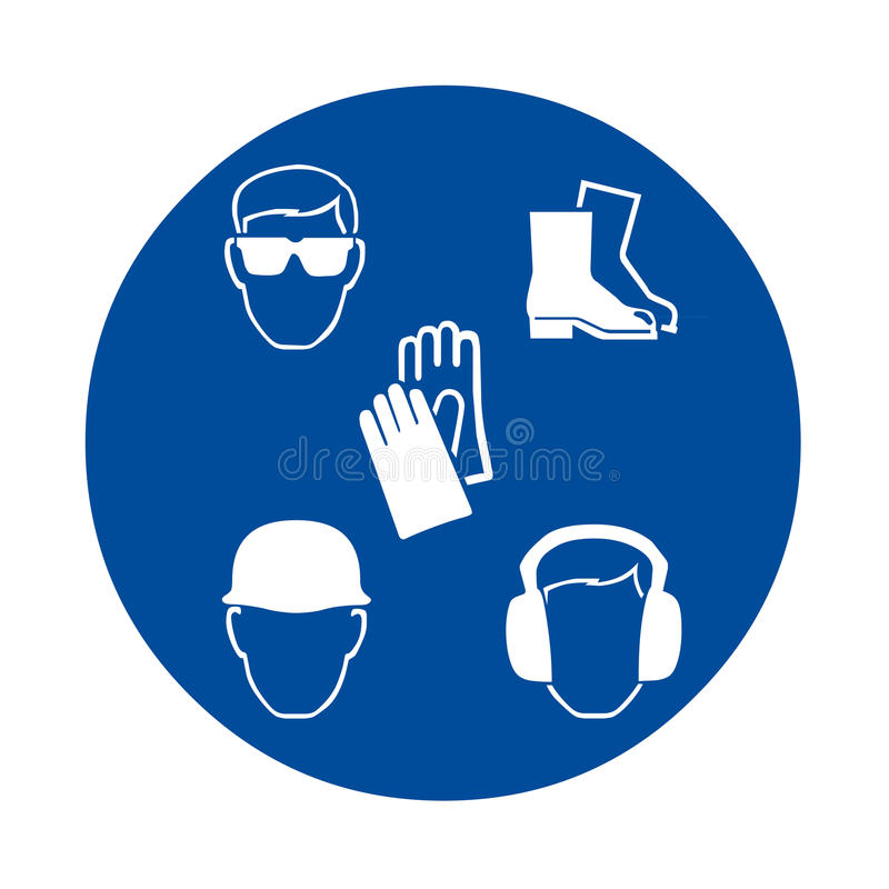 Знаки безопасности на работе бесплатная иллюстрация