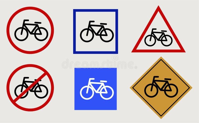 Знаки вектора велосипеда иллюстрация штока