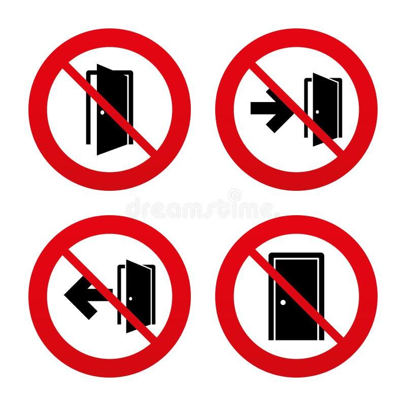 Знаки дверей Аварийный выход с символом стрелки бесплатная иллюстрация