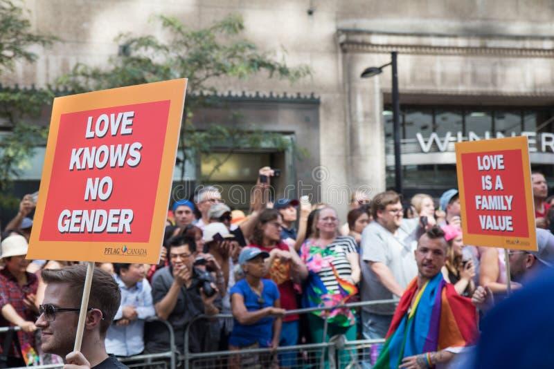 Знаки гордости Торонто стоковые изображения rf