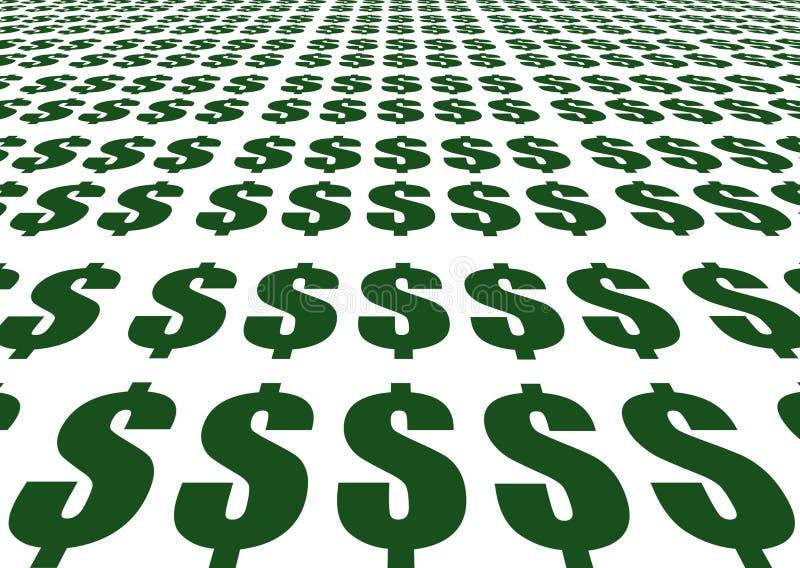 знаки доллара иллюстрация штока