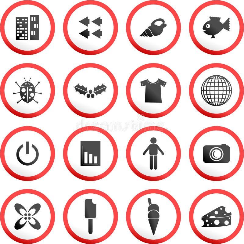 знаки дороги круглые иллюстрация вектора