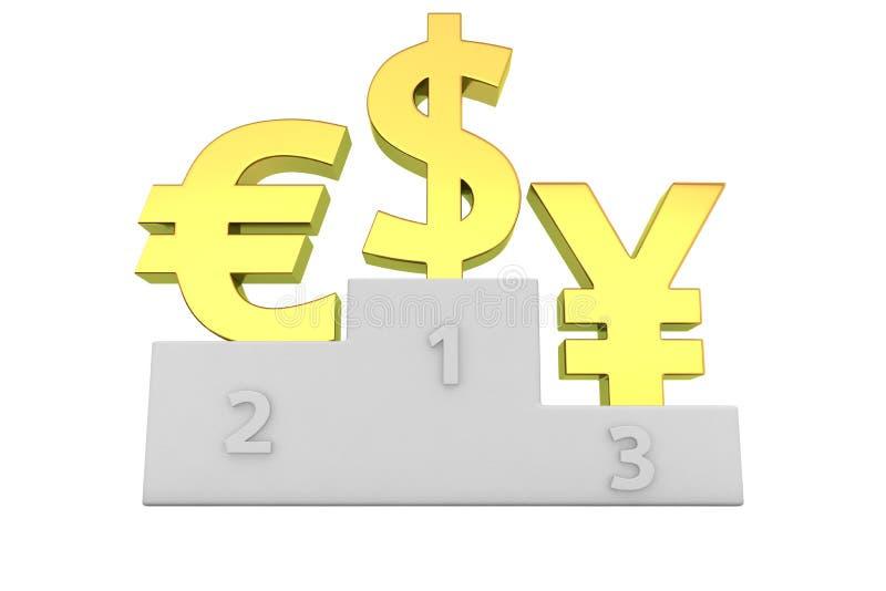 Руководители валют иллюстрация штока