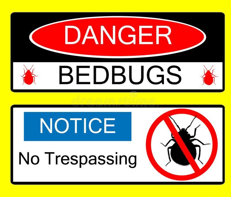 знаки иллюстраций опасности опасности bedbug иллюстрация вектора