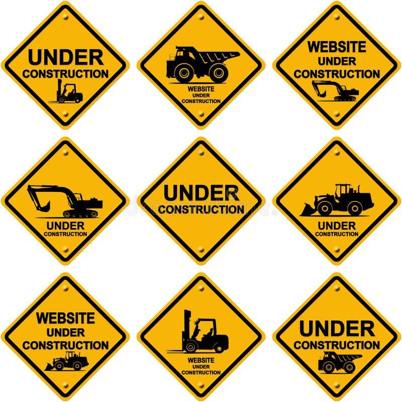 знаки конструкции вниз иллюстрация штока