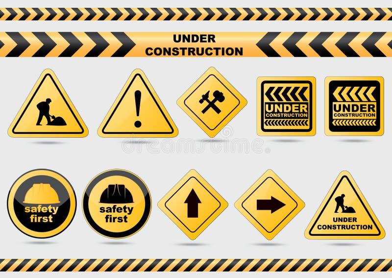 знаки конструкции вниз бесплатная иллюстрация