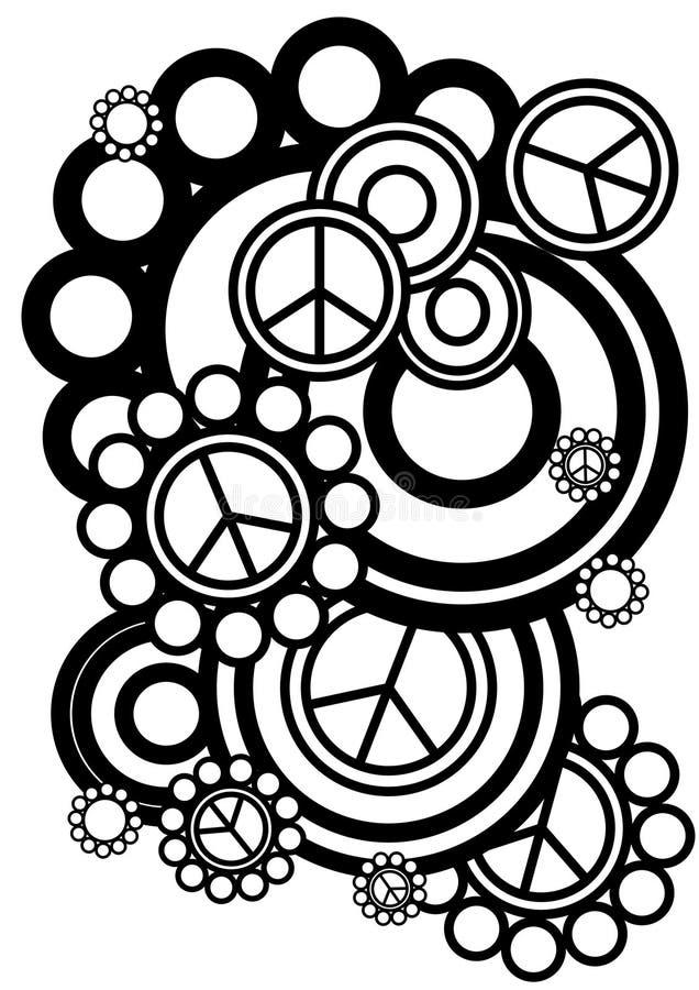 Знаки мира и круги стоковое изображение rf