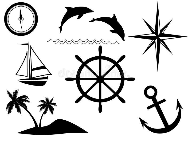 знаки моря иллюстрация штока