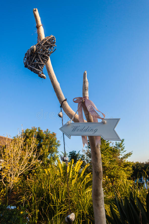 Знаки направлений оформления свадьбы стоковая фотография rf