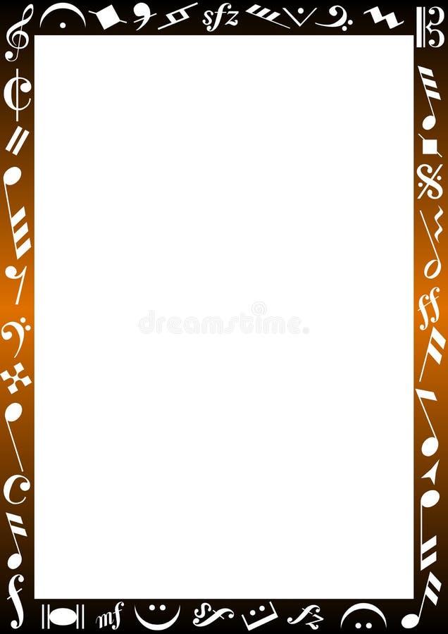 знаки нот граници иллюстрация штока