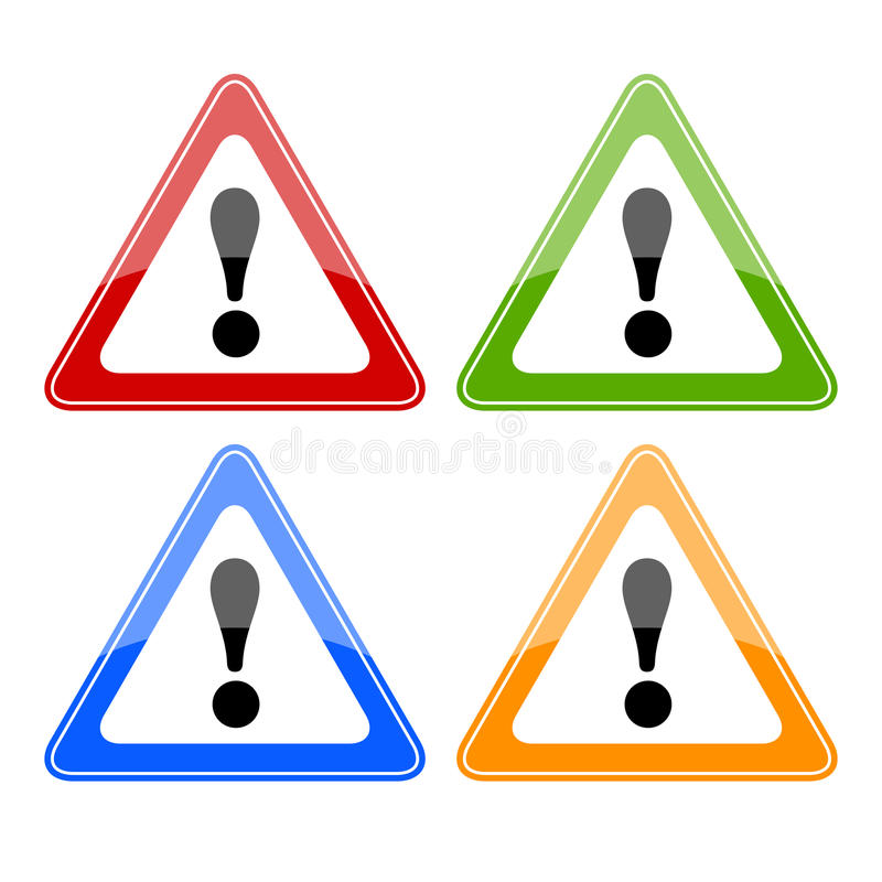 Знаки опасности вектора иллюстрация вектора