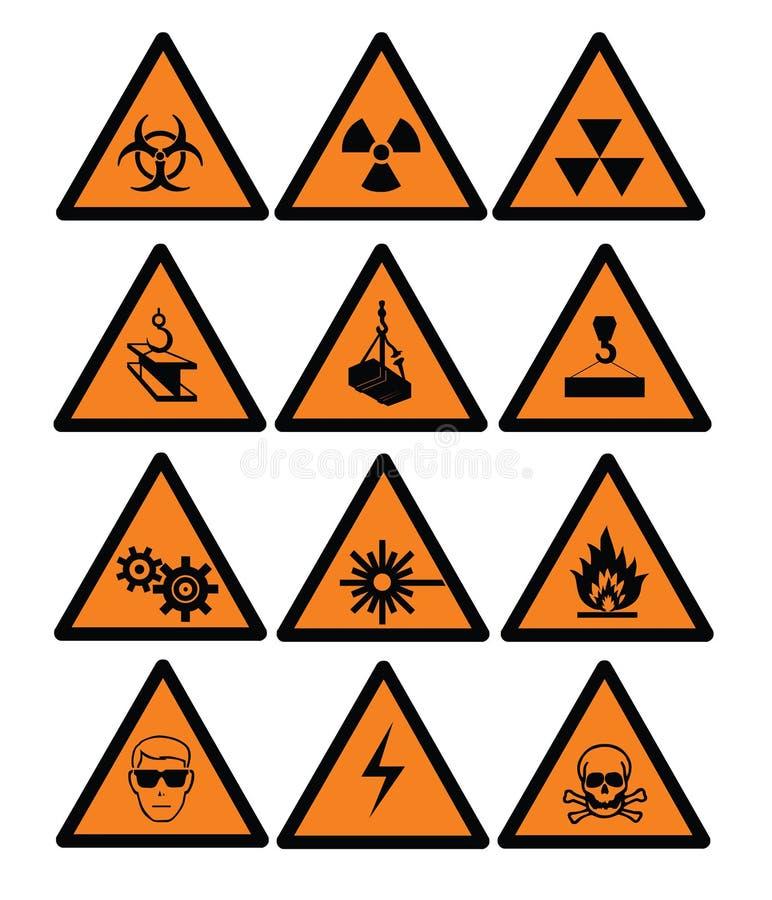 знаки опасности бесплатная иллюстрация