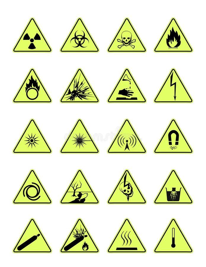 Знаки опасности стоковая фотография