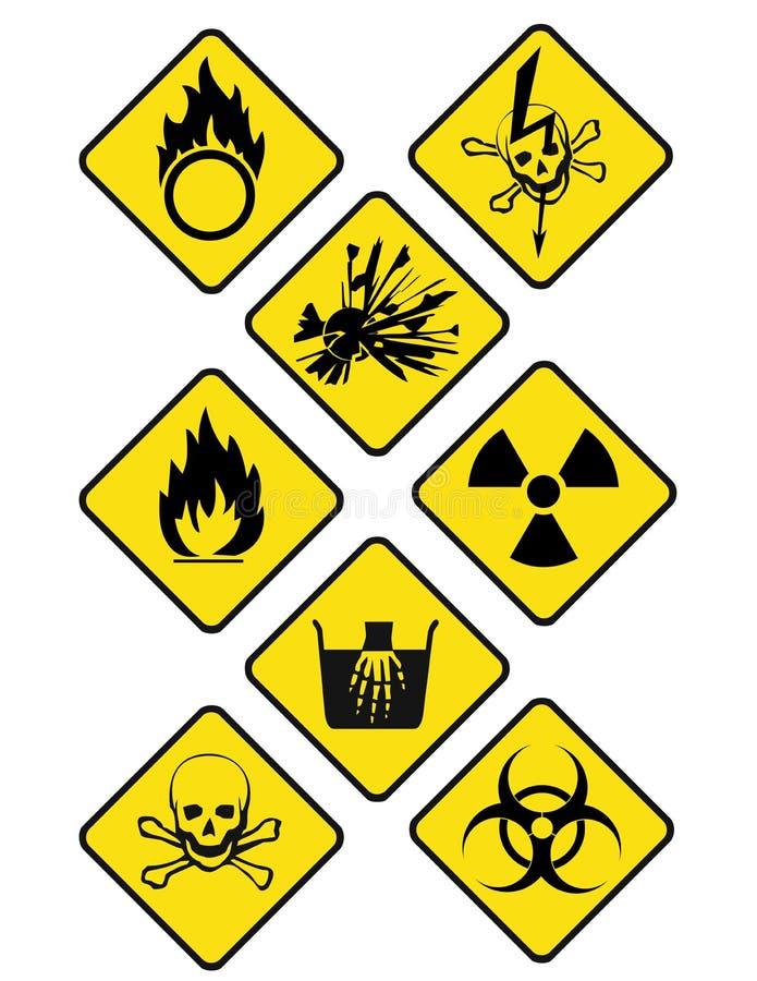 Знаки опасности стоковые фотографии rf