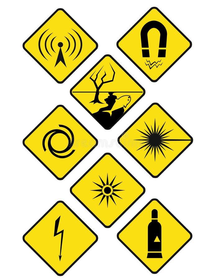 Знаки опасности стоковые изображения rf