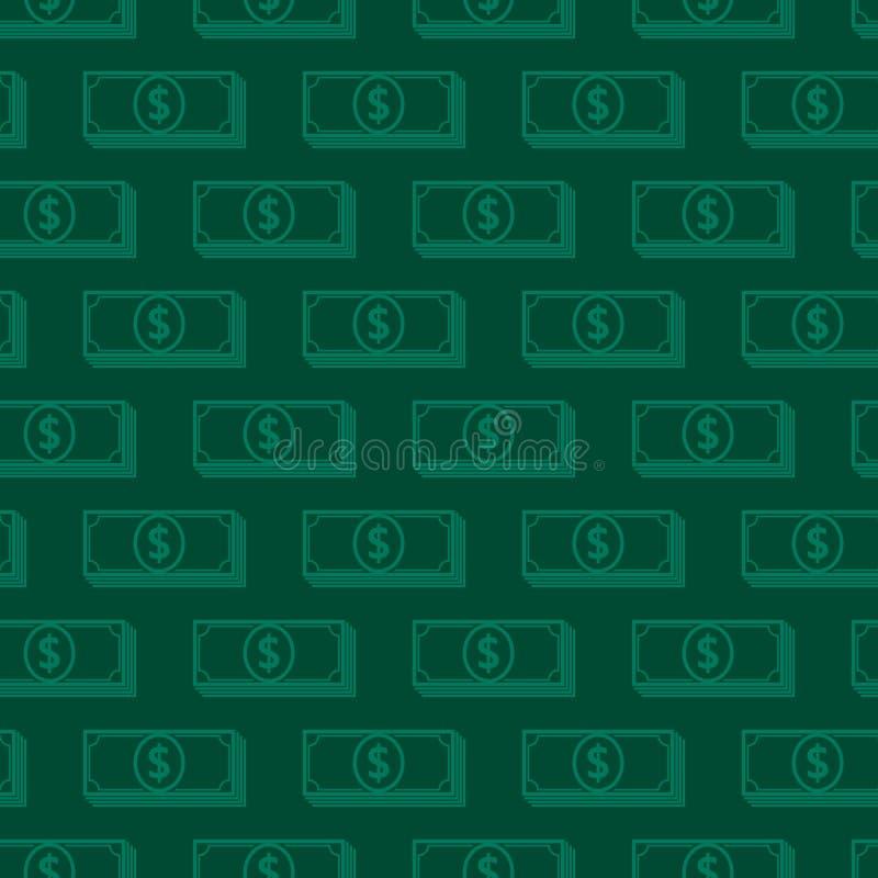 знаки доллара предпосылки безшовные отражение дег дома имущества принципиальной схемы реальное бесплатная иллюстрация