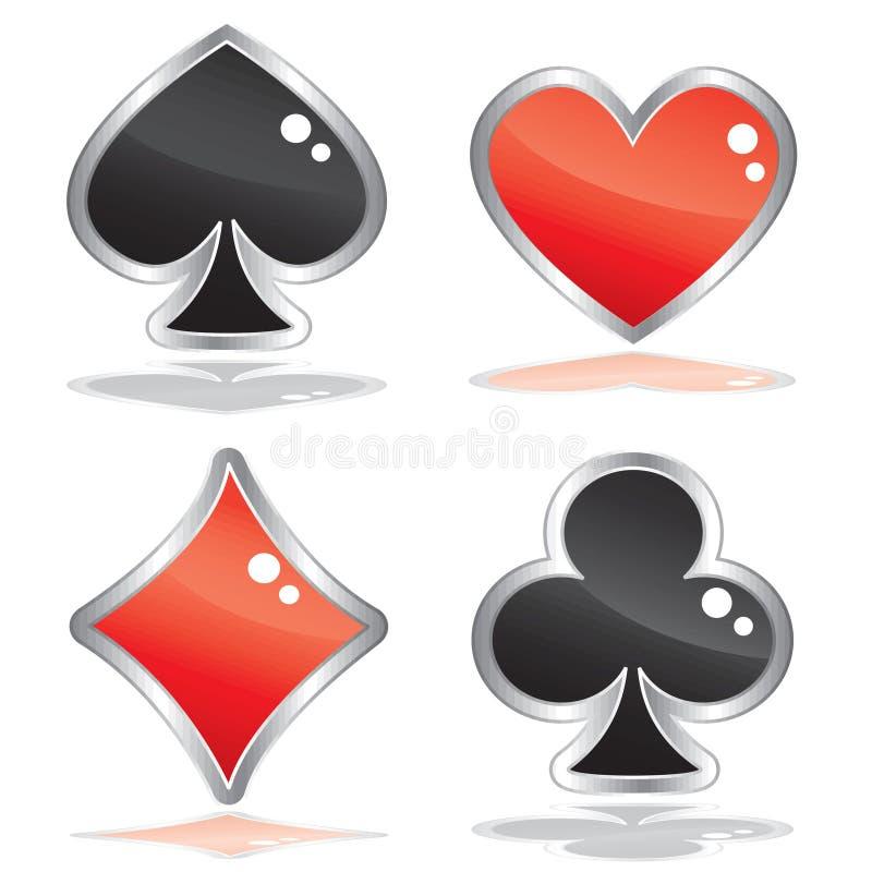 знаки покера карточки иллюстрация штока