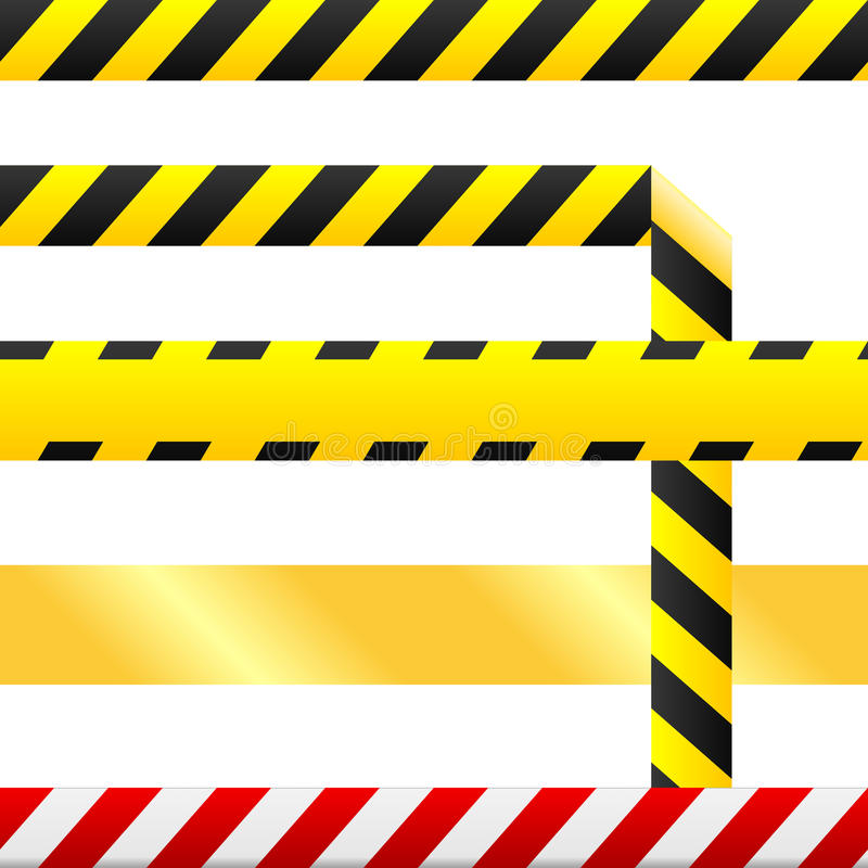 знаки предосторежения безшовные связывают предупреждение тесьмой вектора бесплатная иллюстрация