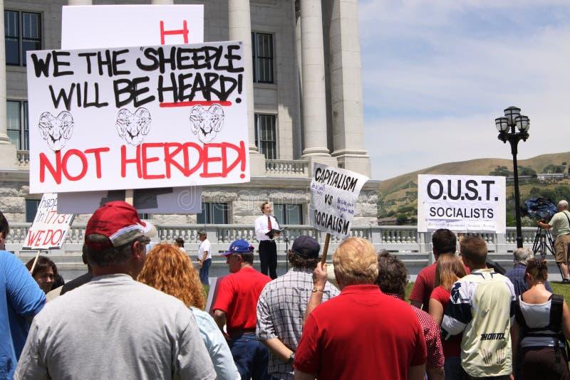 знаки протеста стоковая фотография