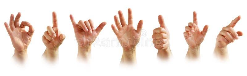 Знаки руки стоковое изображение rf