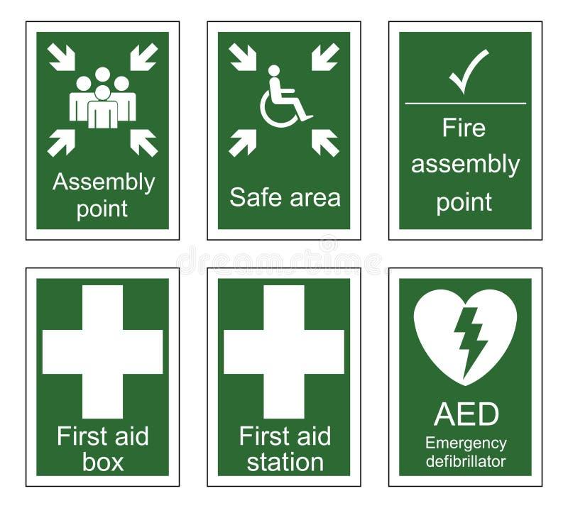 Знаки скорой помощи и собрания бесплатная иллюстрация