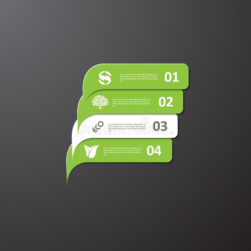 Знаки современной зеленой экологичности infographic бесплатная иллюстрация