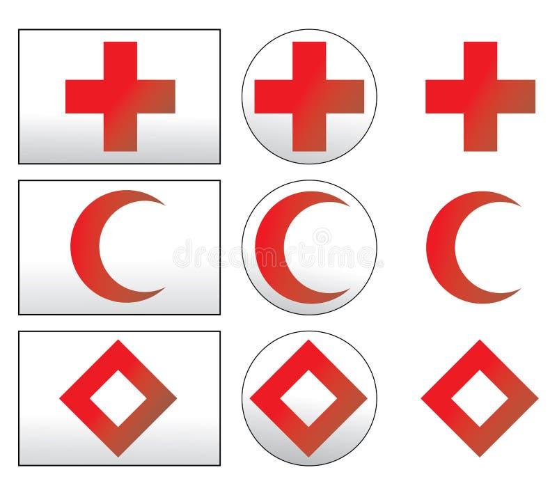 знаки сотрудников военно-медицинской службы иллюстрация штока