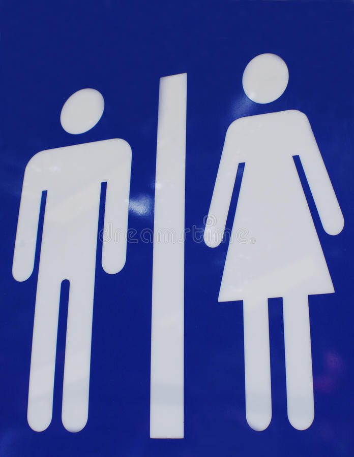 Знаки туалета стоковые изображения rf