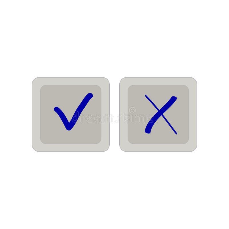 Знаки утверждений на квадратных дн иллюстрация вектора