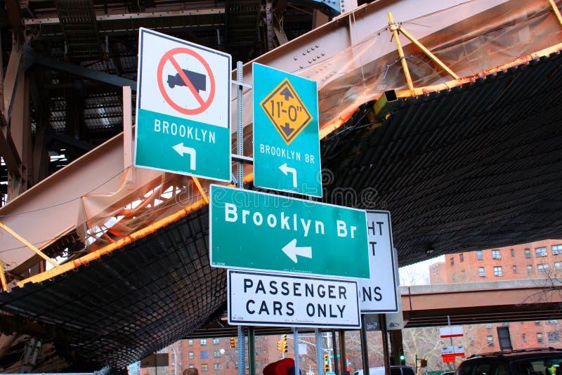 Знаки улицы Нью-Йорк Бруклина стоковая фотография rf