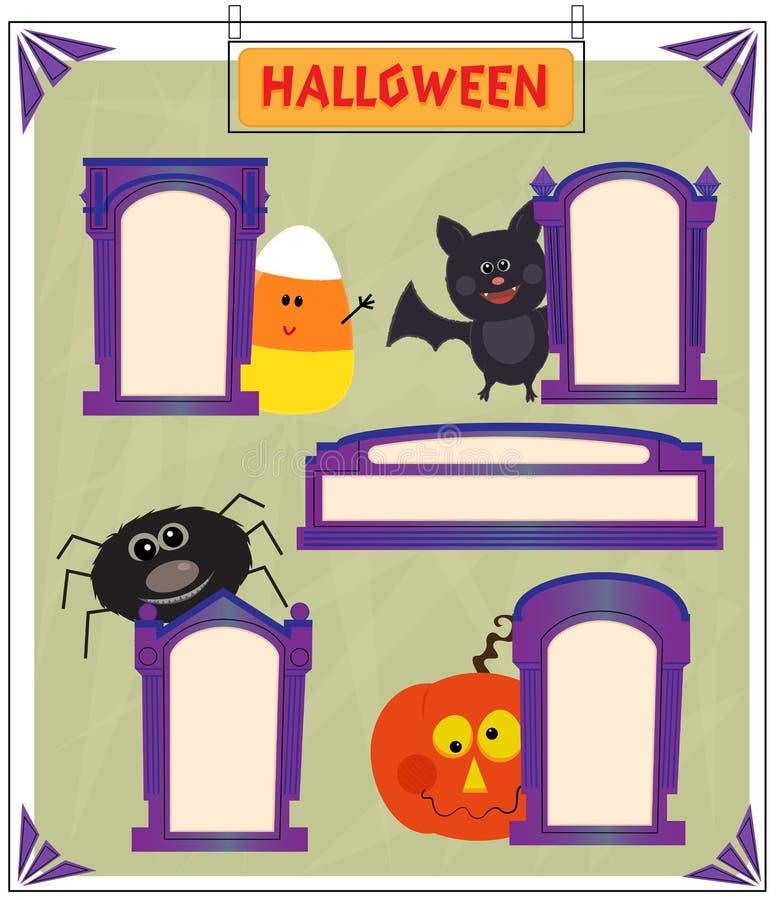 Знаки хеллоуина иллюстрация вектора