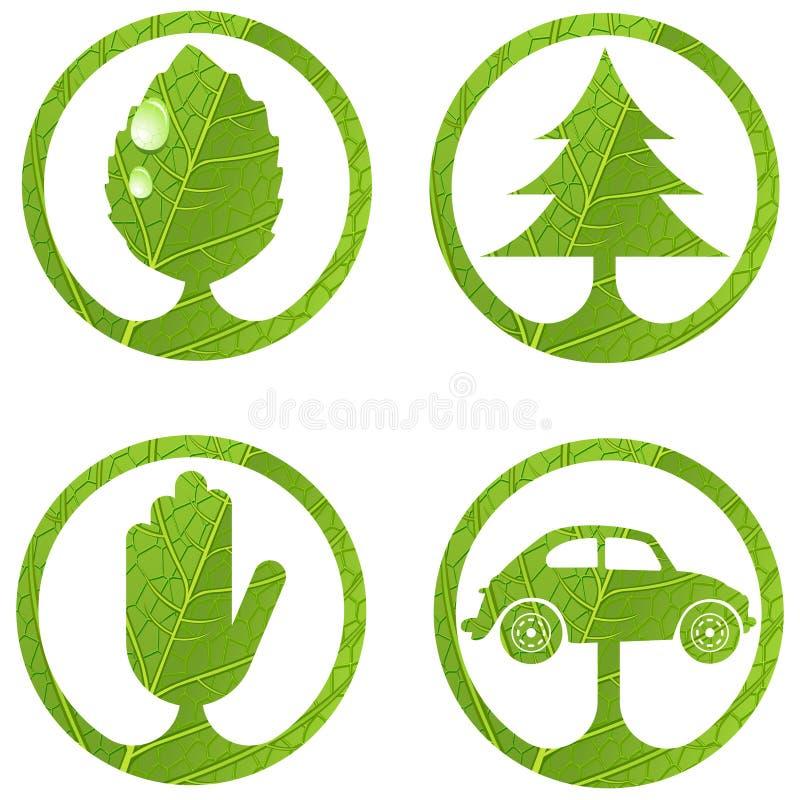 знаки 1 eco установленные иллюстрация штока