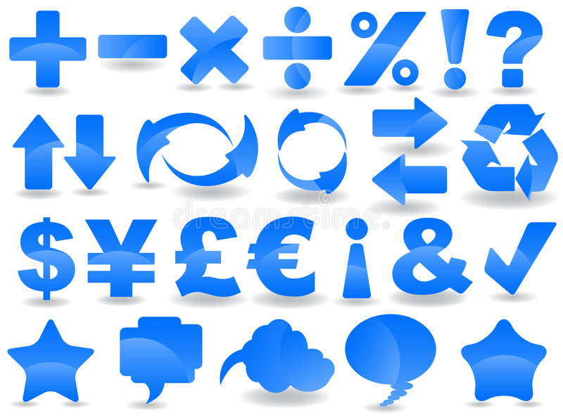 знаки иллюстрация вектора