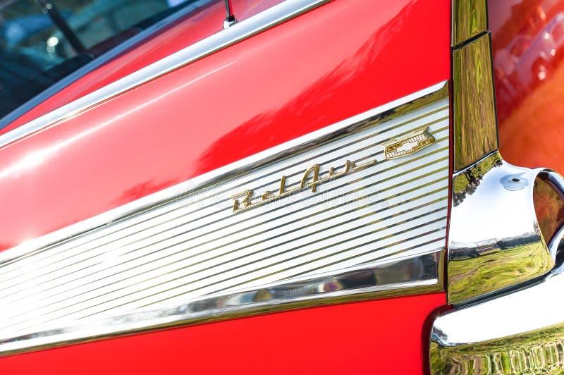 Знак автомобиля Chevy Bel Air стоковые фотографии rf
