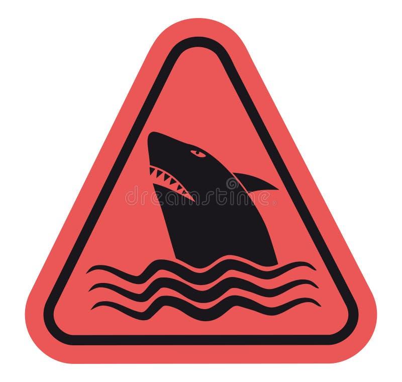 знак акулы опасности иллюстрация вектора