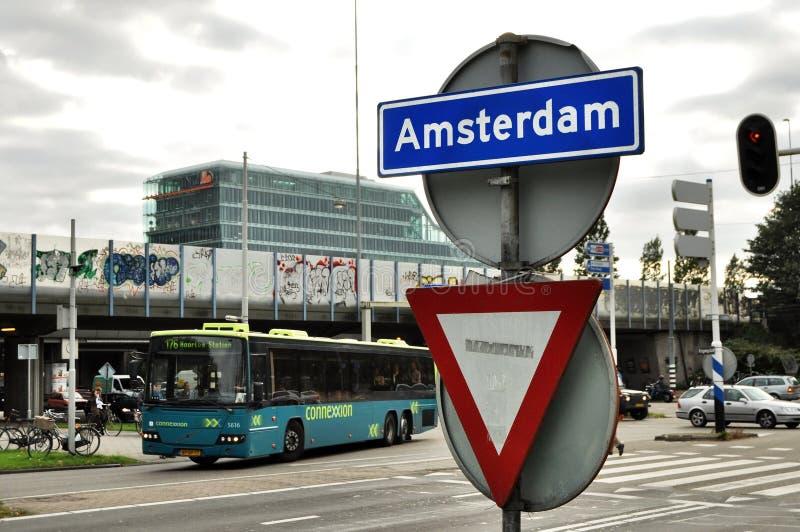 Знак Амстердам стоковая фотография