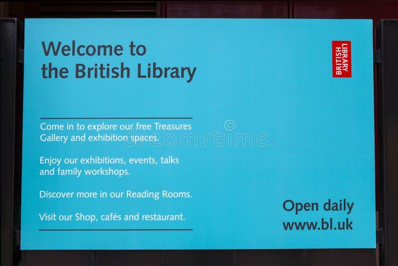Знак данным по Британской библиотеки стоковая фотография