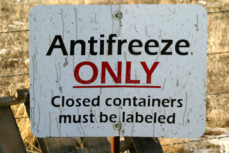 Download знак антифриза стоковое фото. изображение насчитывающей контейнер - 484050