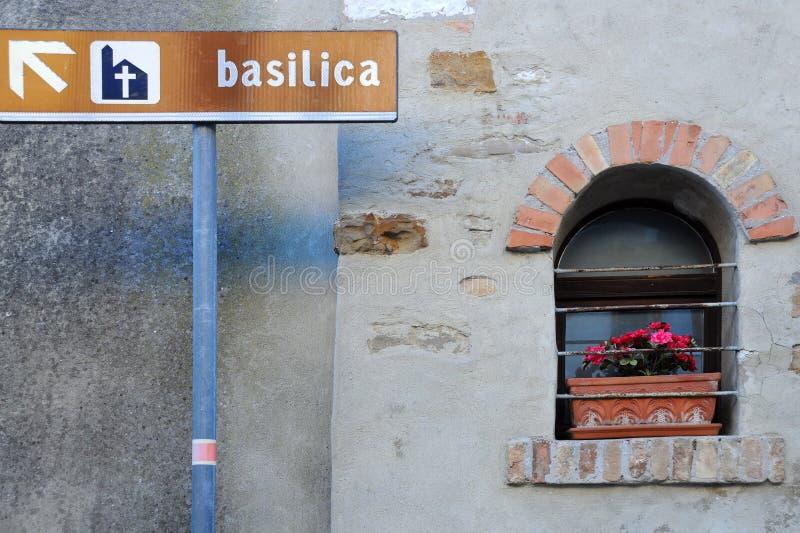 Знак базилики стоковые изображения rf
