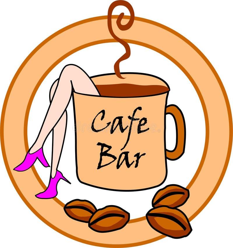 Знак бара кафа стоковые изображения rf
