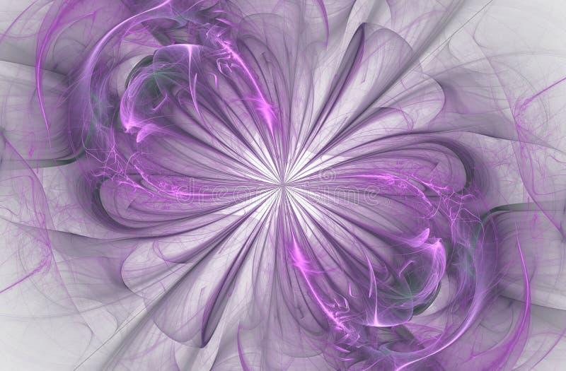 Знак безграничности, компьютер произвел фракталь иллюстрация вектора