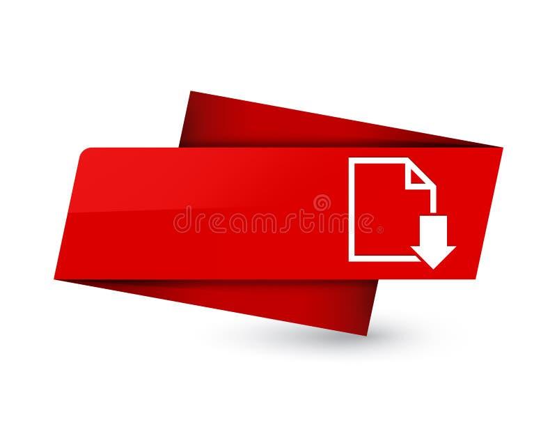 Знак бирки значка документа загрузки наградной красный бесплатная иллюстрация