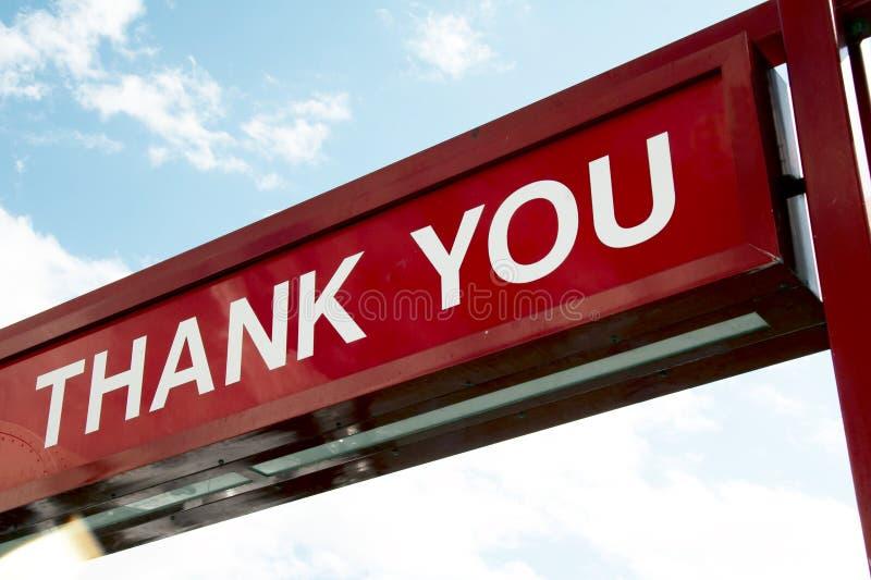 знак благодарит вас стоковая фотография