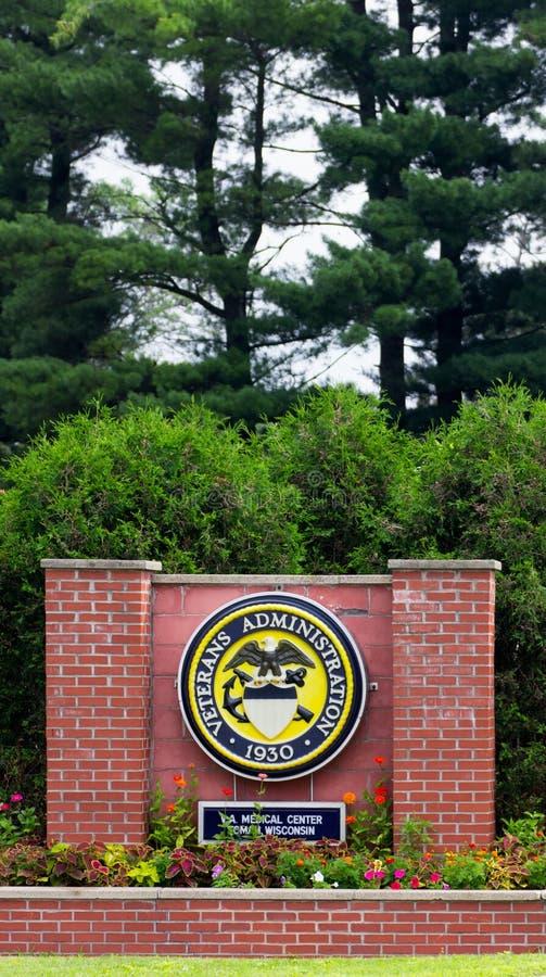 Знак больницы ветеранов стоковые фотографии rf