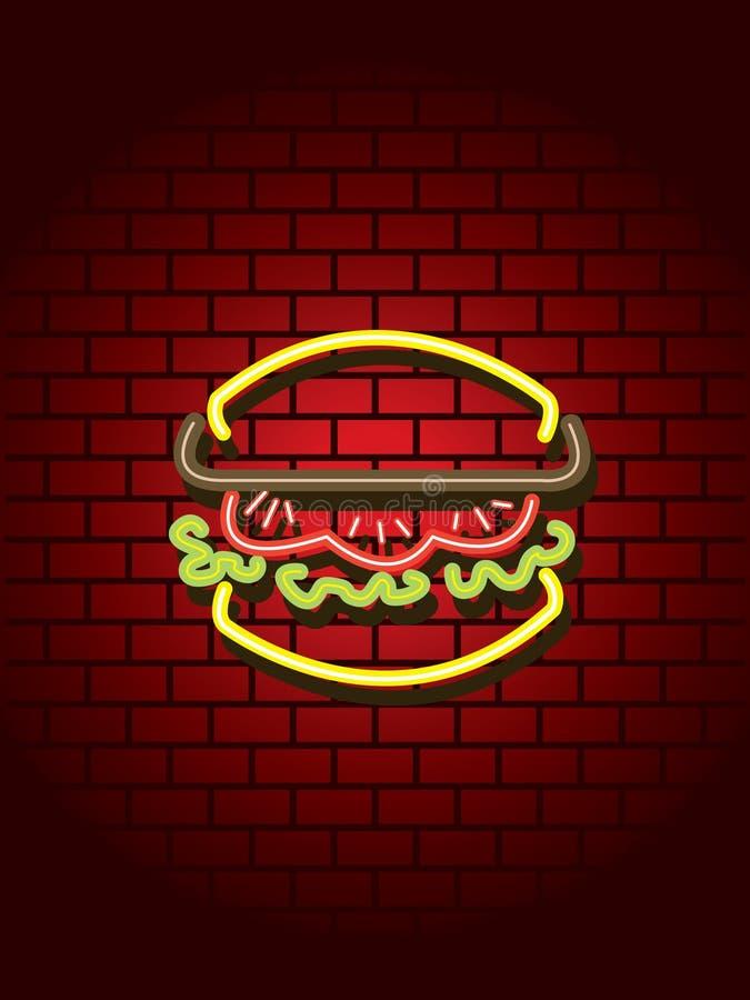 знак бургера неоновый бесплатная иллюстрация